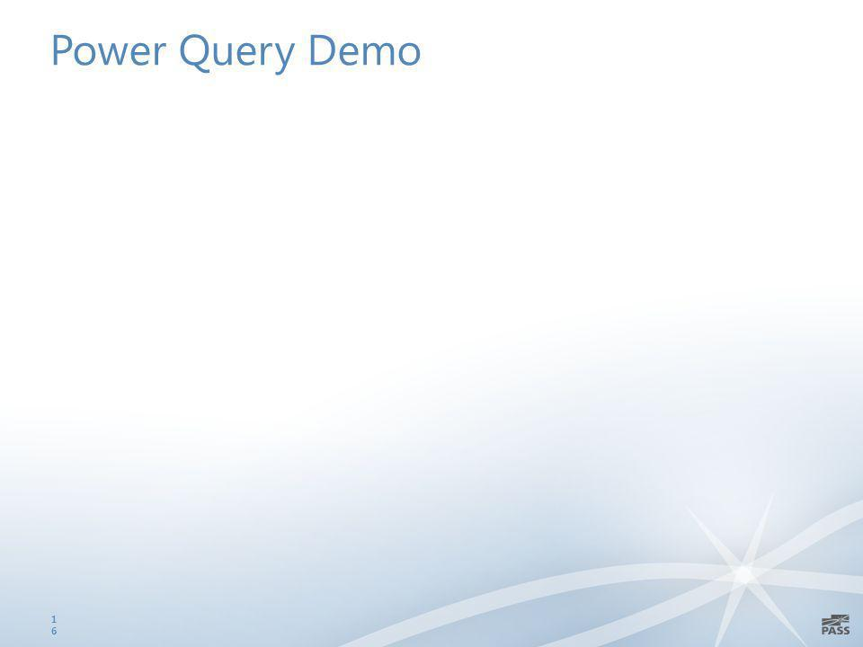Power Query Demo 16