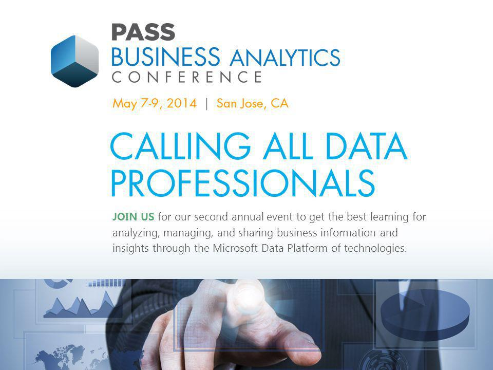 JOIN US for our second annual event to get the best learning for analyzing, managing, and sharing business information and insights through the Microsoft Data Platform of technologies.