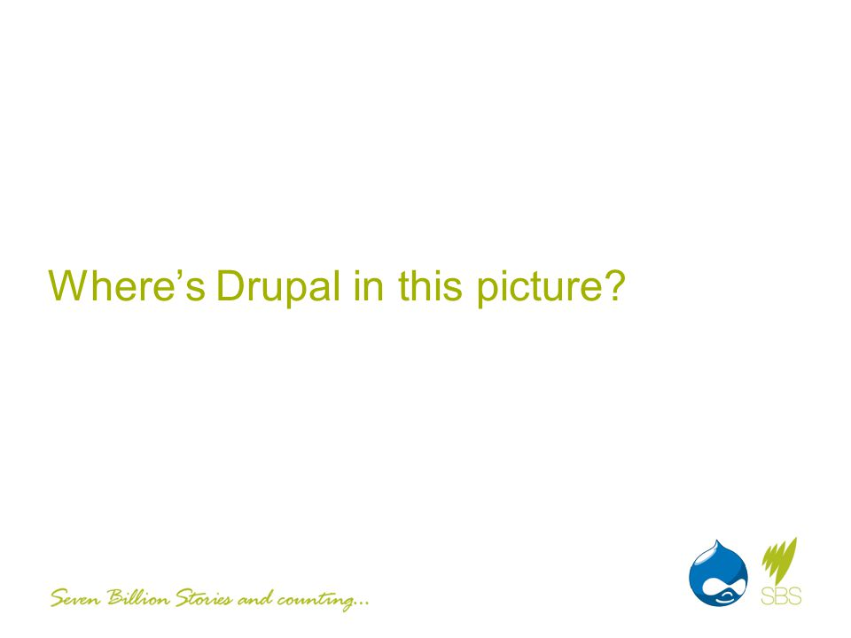 Wheres Drupal in this picture
