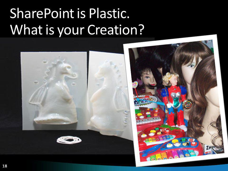 18 SharePoint is Plastic. What is your Creation