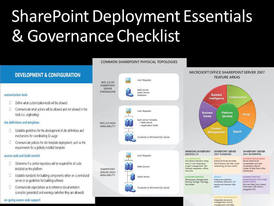 SharePoint Deployment Essentials & Governance Checklist