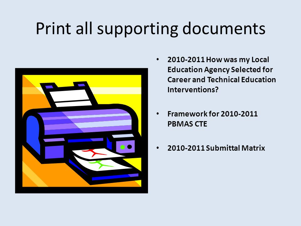 Print all supporting documents 2010-2011 How was my Local Education Agency Selected for Career and Technical Education Interventions? Framework for 20