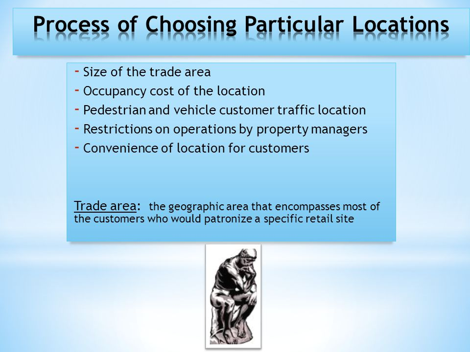 - Types of locations - Unplanned retail locations Milton Law