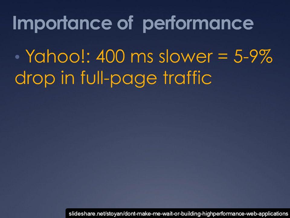 slideshare.net/stoyan/yslow-20-presentation slideshare.net/stoyan/dont-make-me-wait-or-building-highperformance-web-applications