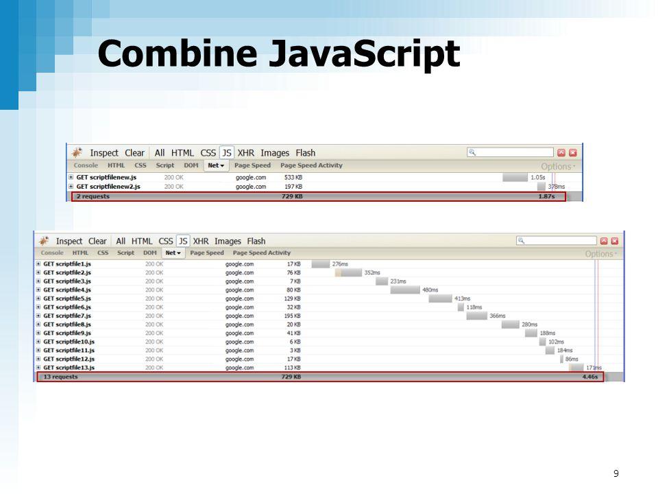 Combine JavaScript 9