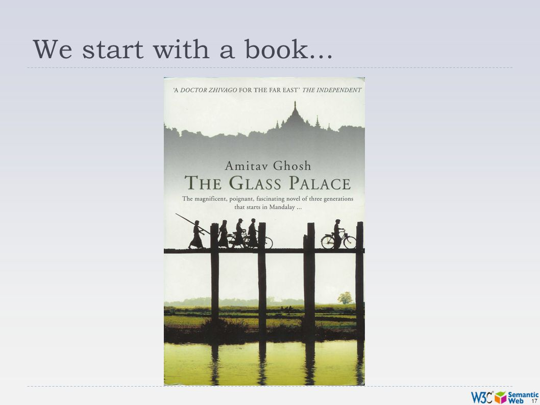 17 We start with a book...