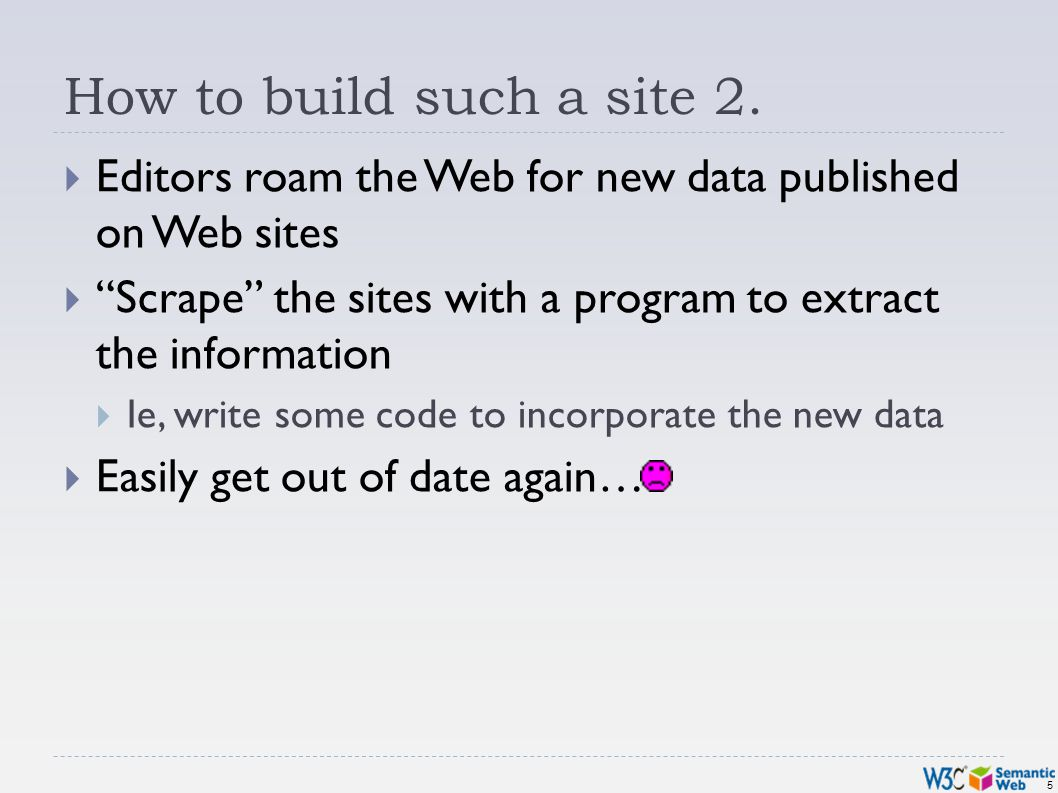5 How to build such a site 2.