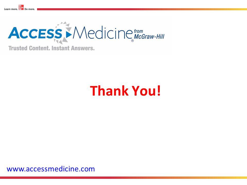 Thank You! www.accessmedicine.com