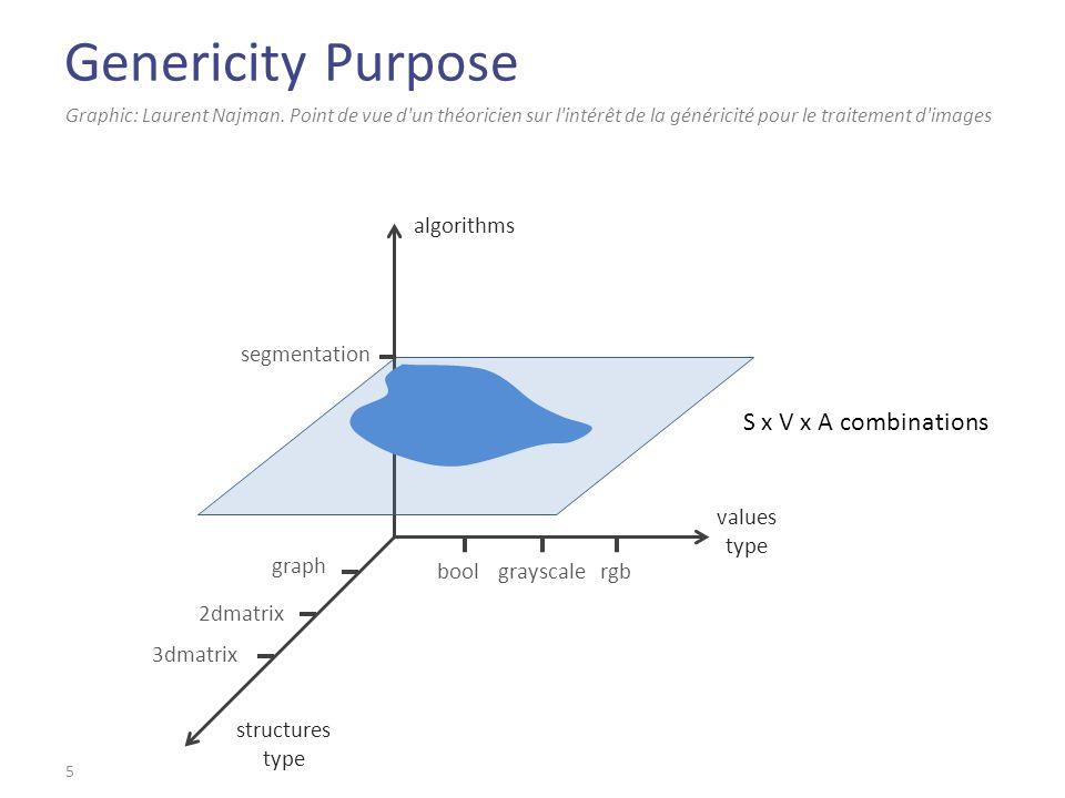 Genericity Purpose 5 Graphic: Laurent Najman. Point de vue d'un théoricien sur l'intérêt de la généricité pour le traitement d'images algorithms value