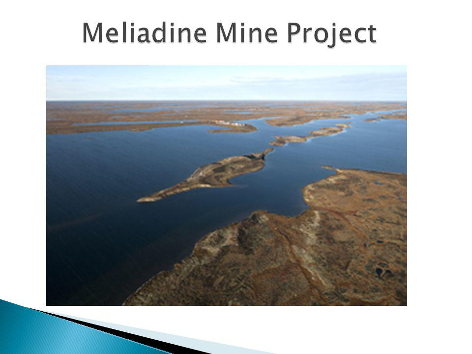 Meliadine exploration and development project is 22 km northwest of Rankin Inlet $30 million spent on exploration studies this year Capital Investment: $1 billion for the Meliadine Project Tentative Timeline: 2010-2014 – Exploration and Permitting 2012-2013 – Completion of Feasibility Study 2013-2016 – Construction Full Mine Operations will begin in 2017, Mine will be operational for 10-15 years.