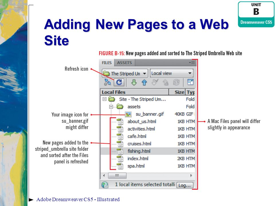 Adobe Dreamweaver CS5 - Illustrated Adding New Pages to a Web Site