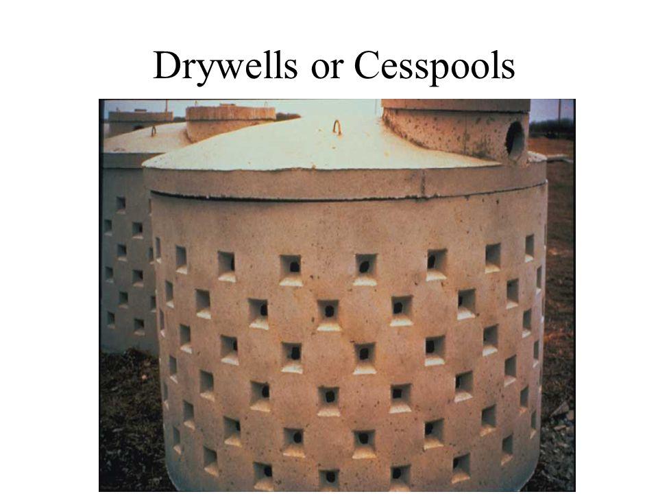 Drywells or Cesspools
