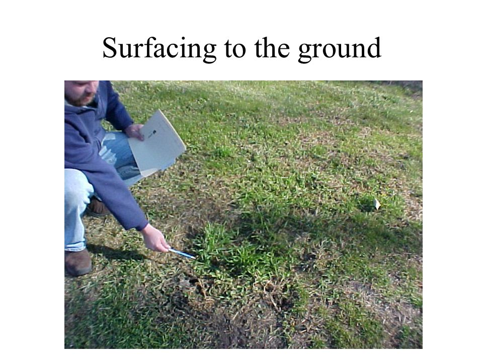 Surfacing to the ground