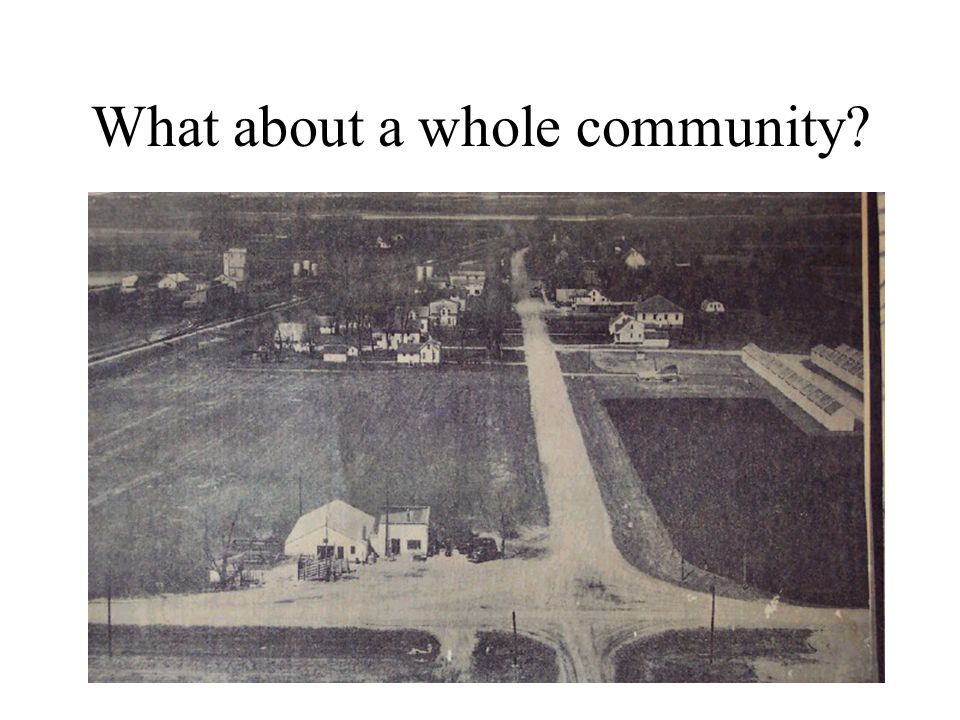 What about a whole community?