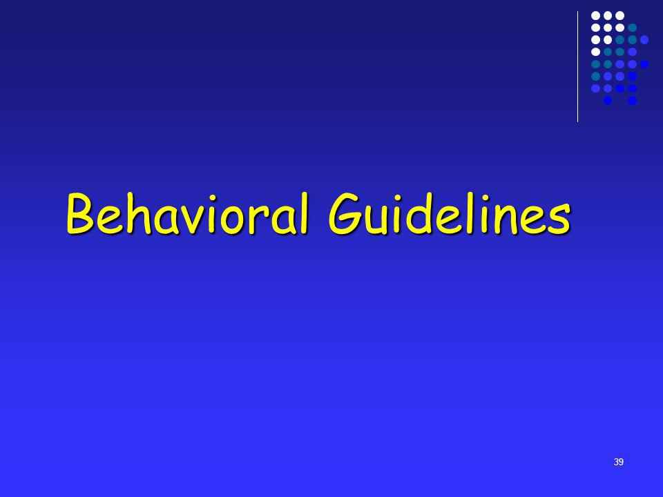 39 Behavioral Guidelines