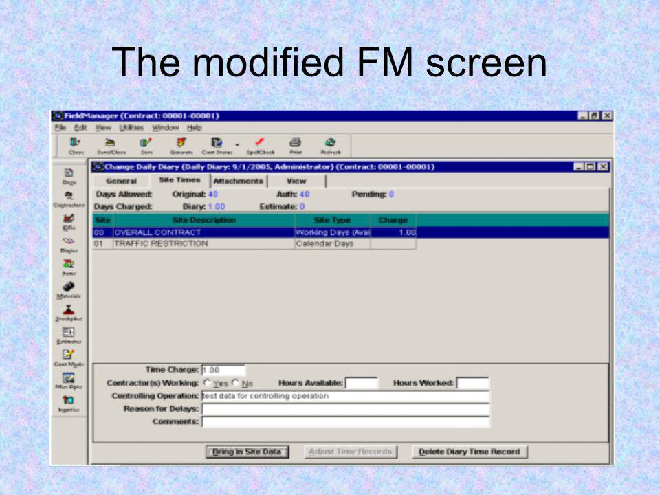 The modified FM screen