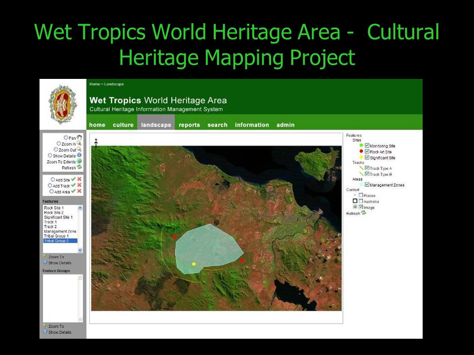 Wet Tropics World Heritage Area - Cultural Heritage Mapping Project