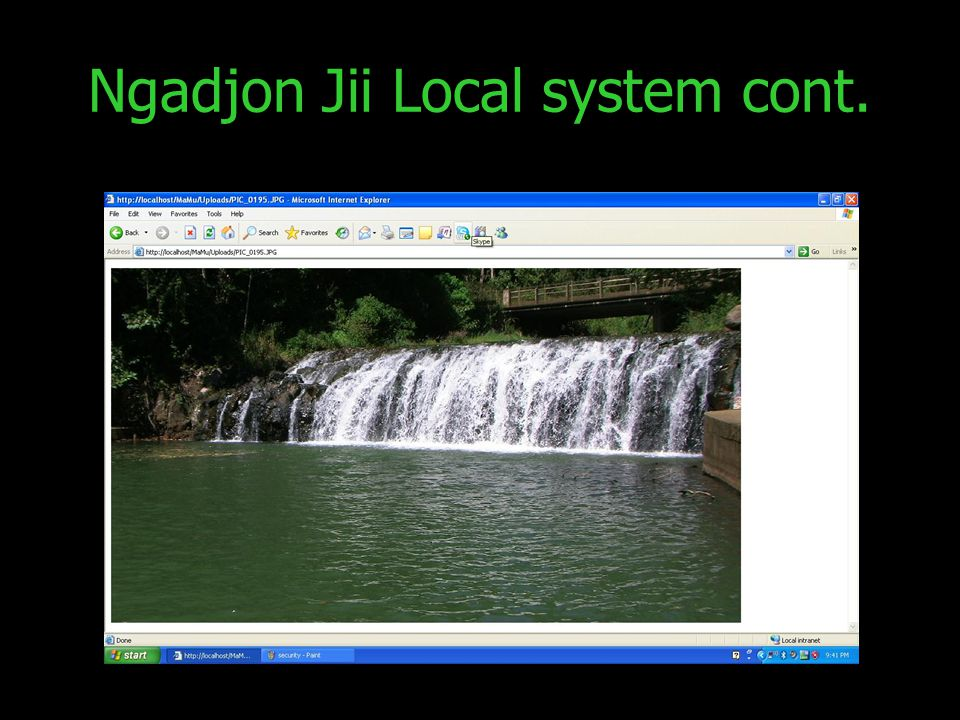 Ngadjon Jii Local system cont.