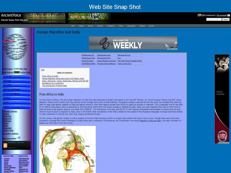 Web Site Snap Shot