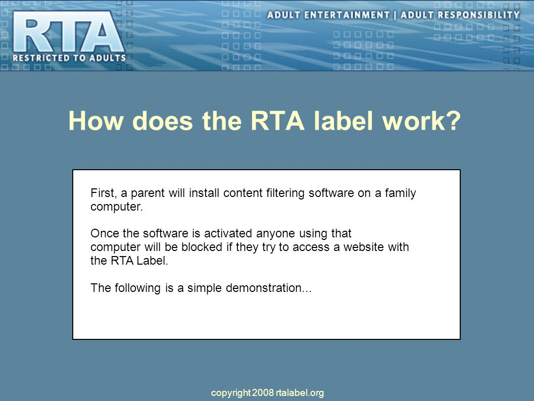 How does the RTA label work.