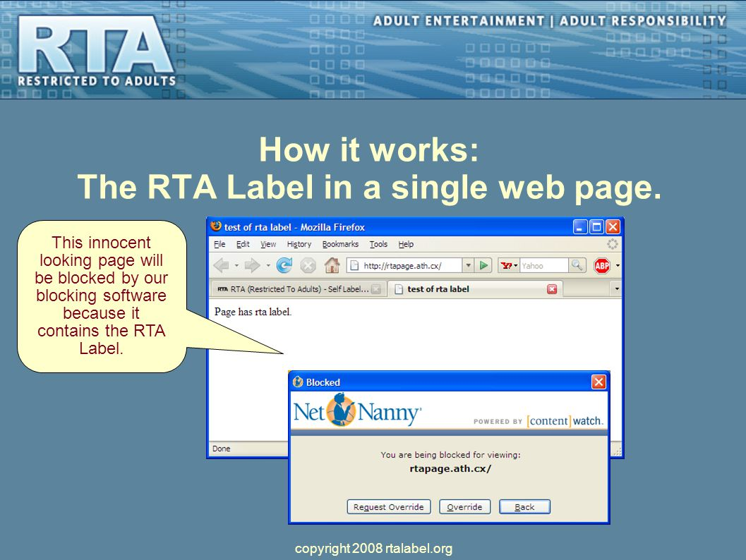 How it works: The RTA Label in a single web page.