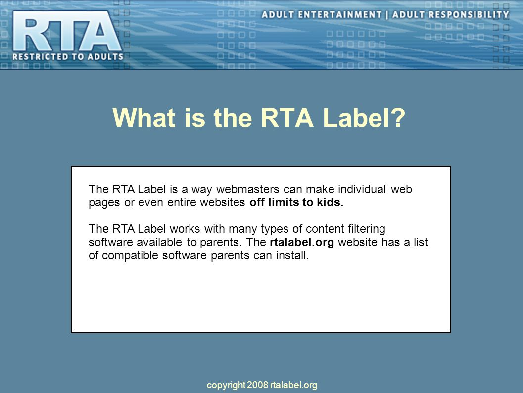 What is the RTA Label.