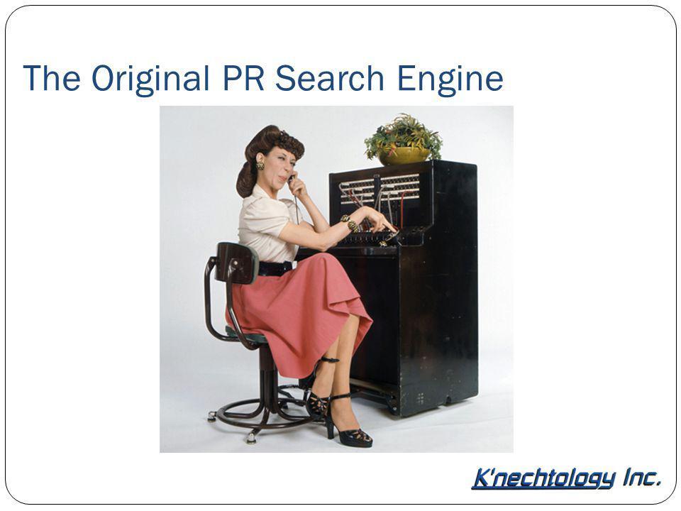 The Original PR Search Engine