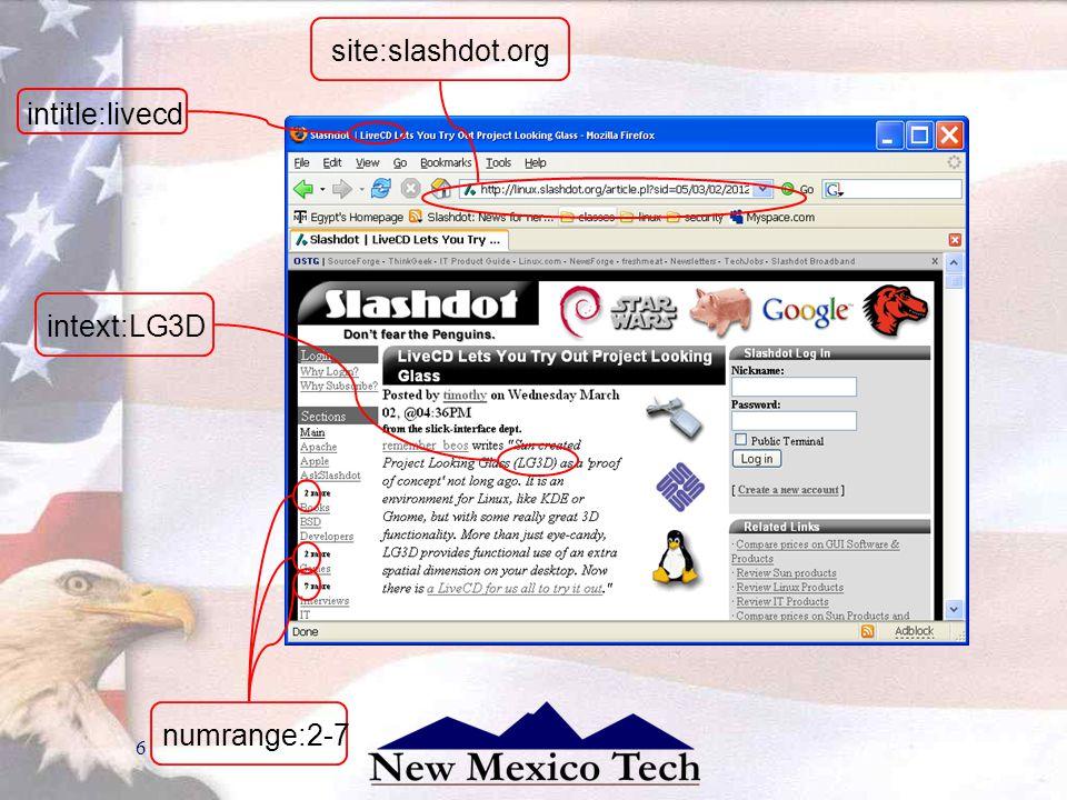6 site:slashdot.org intext:LG3D numrange:2-7 intitle:livecd