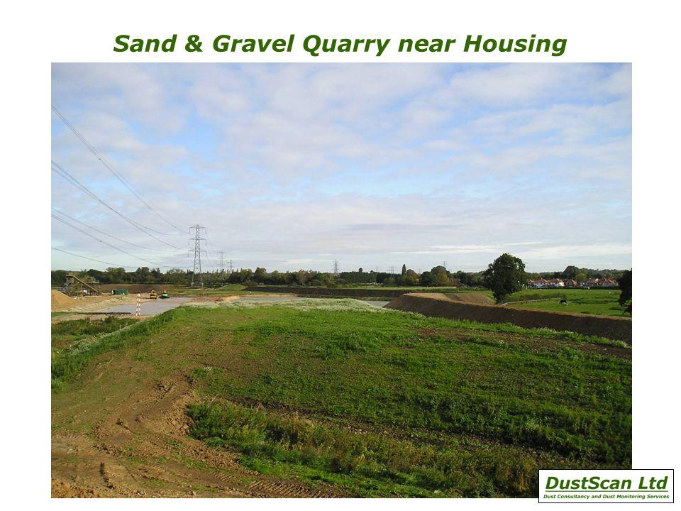 Sand & Gravel Quarry near Housing