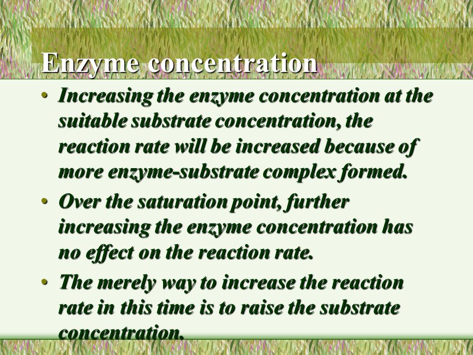 Graph to show the effect of substrate concentration on the rate of an enzyme-controlled reaction