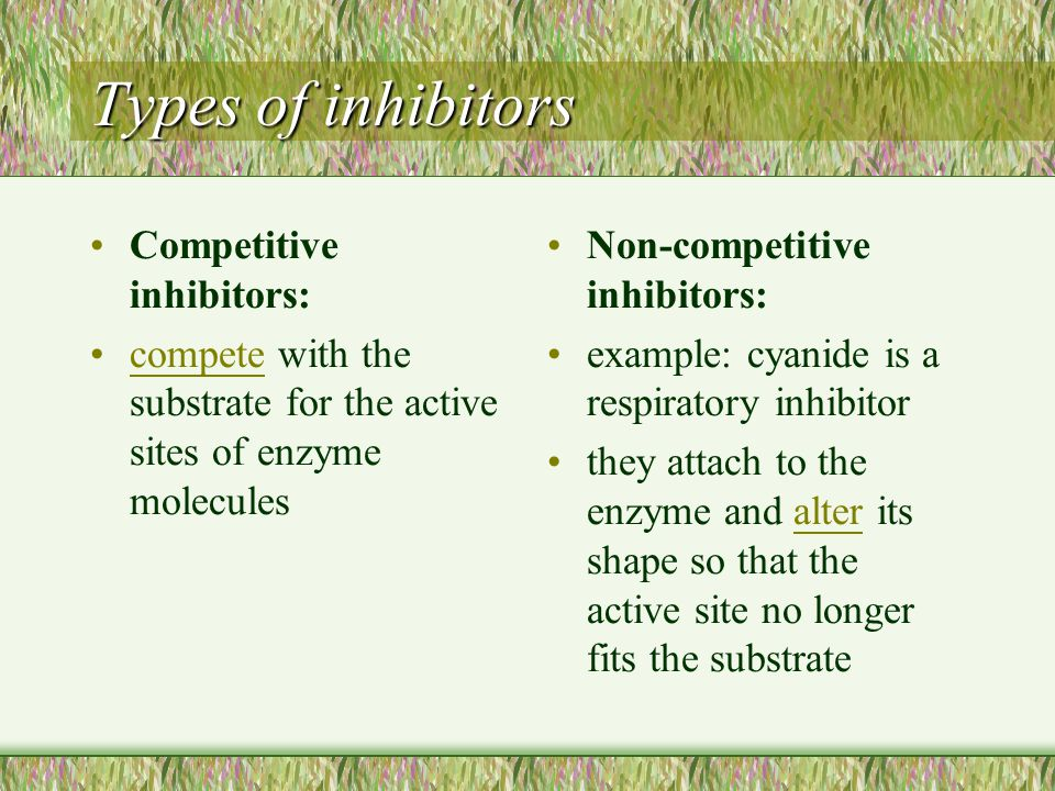 Reversible inhibitor The activity of enzyme is restored when the inhibitor is removed. There are including competitive inhibitors and non-competitive