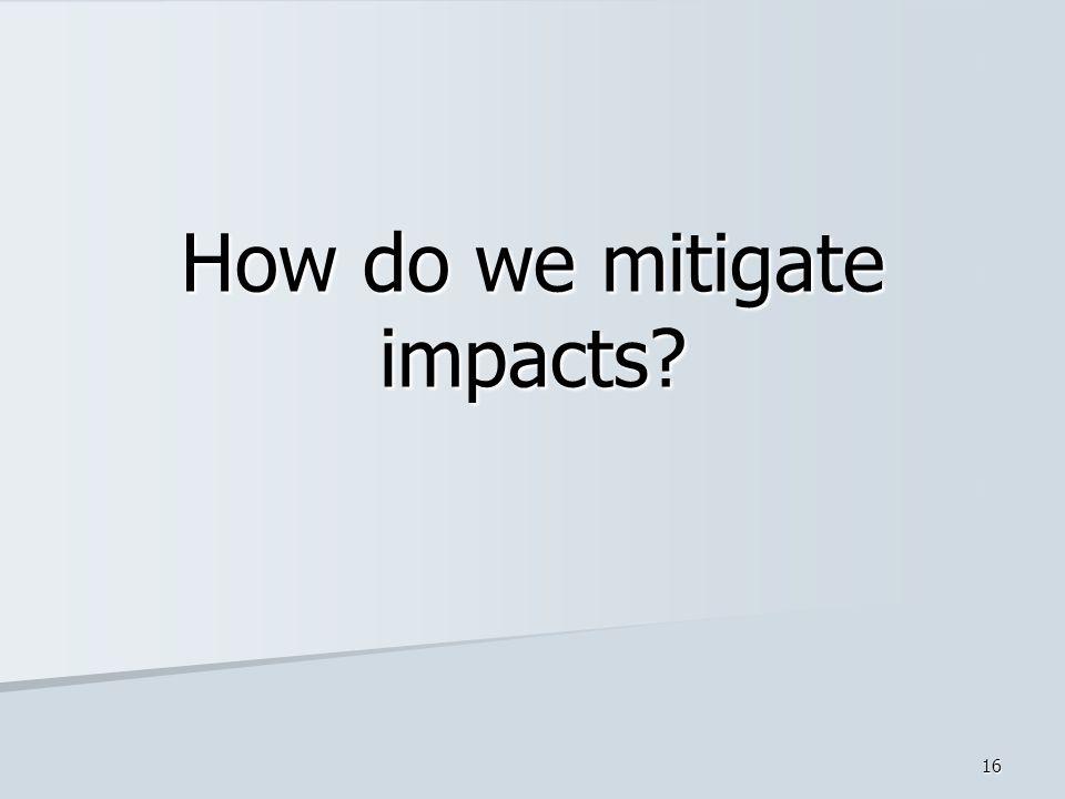 15 Identify Impacts