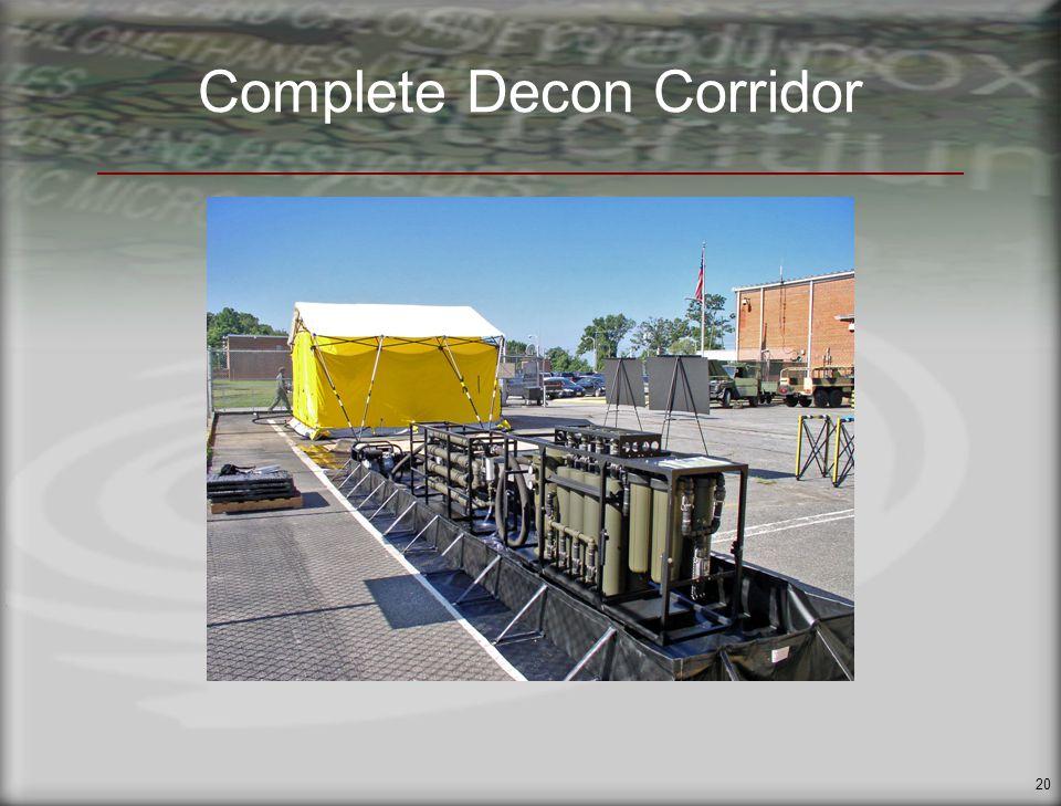 20 Complete Decon Corridor