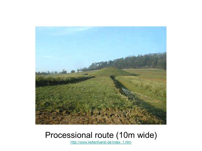 Processional route (10m wide) http://www.keltenfuerst.de/index_1.htm
