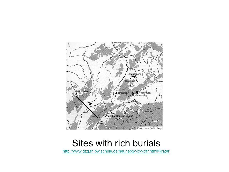 Sites with rich burials http://www.gzg.fn.bw.schule.de/heunebg/vix/vixfr.htm#Krater