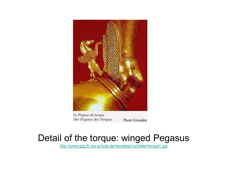 Detail of the torque: winged Pegasus http://www.gzg.fn.bw.schule.de/heunebg/vix/bilder/torque1.jpg