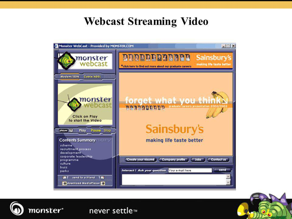 Webcast Streaming Video