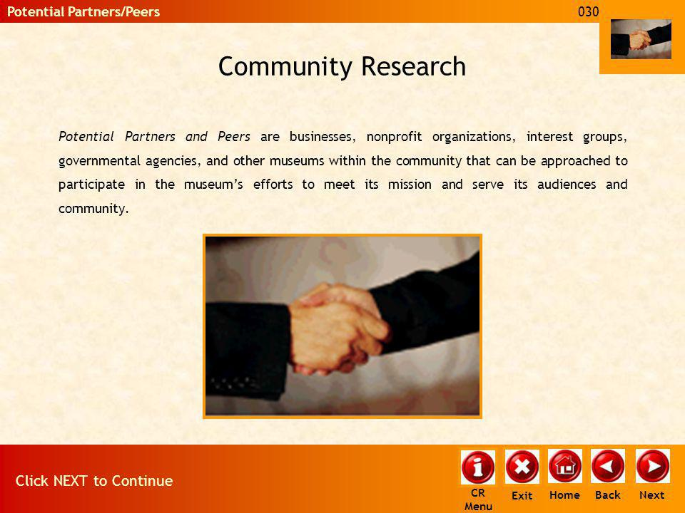 Community Research This section is wide open, so put your creativity to work.
