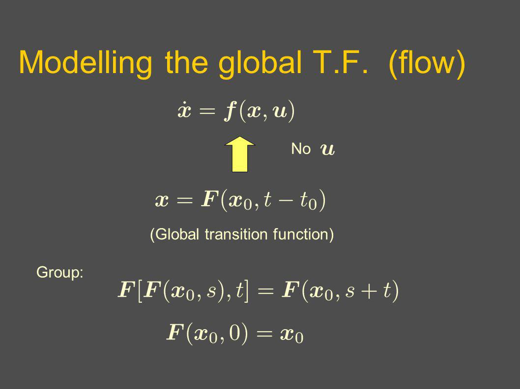 Modelling the global T.F. (flow) No (Global transition function) Group: