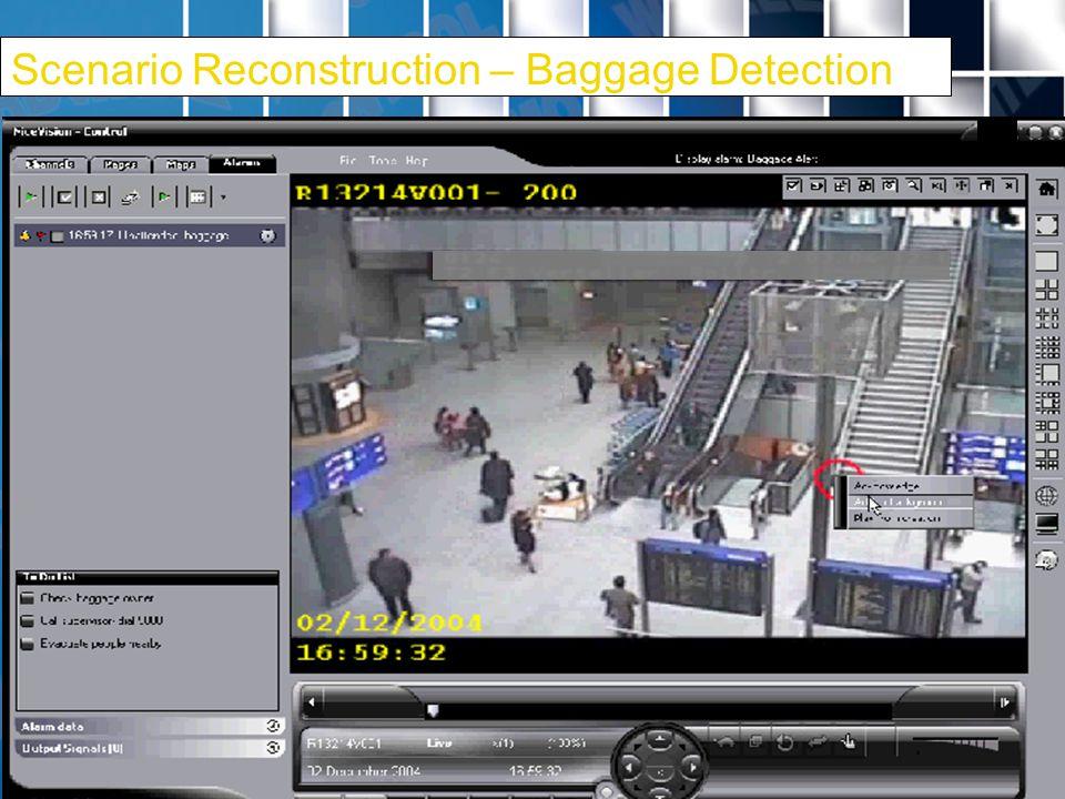 21 Scenario Reconstruction – Baggage Detection