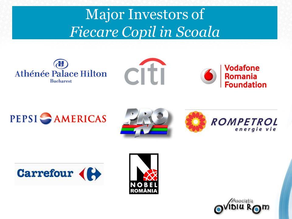 Major Investors of Fiecare Copil in Scoala