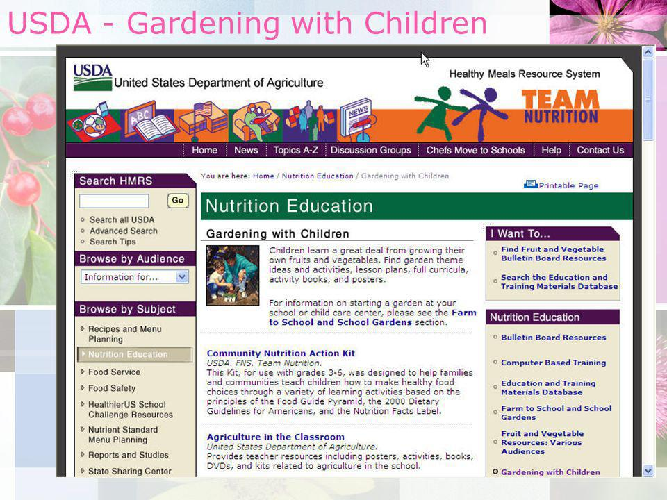 USDA - Gardening with Children
