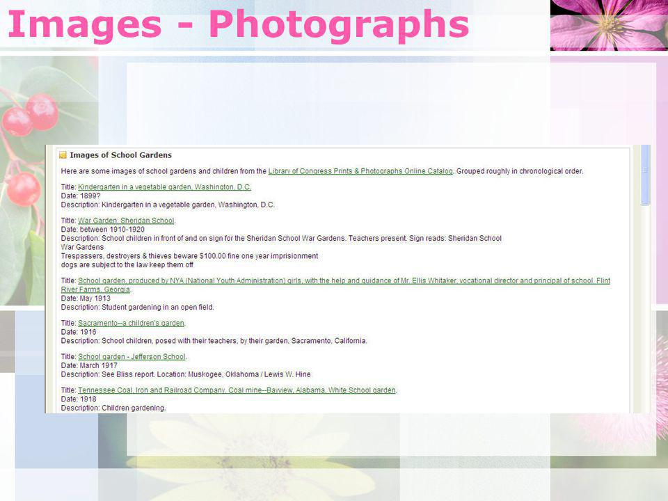 Images - Photographs