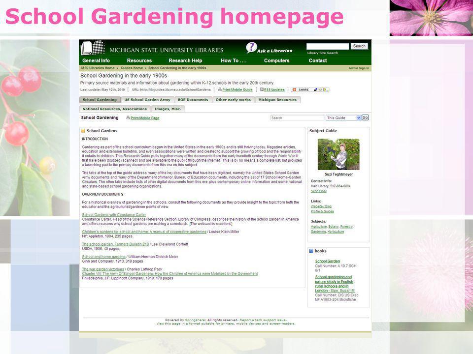 School Gardening homepage