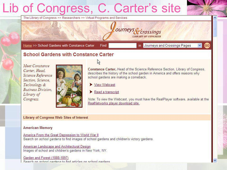 Lib of Congress, C. Carters site