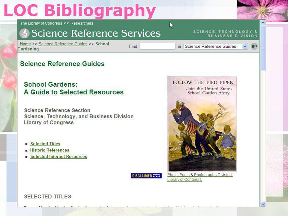 LOC Bibliography