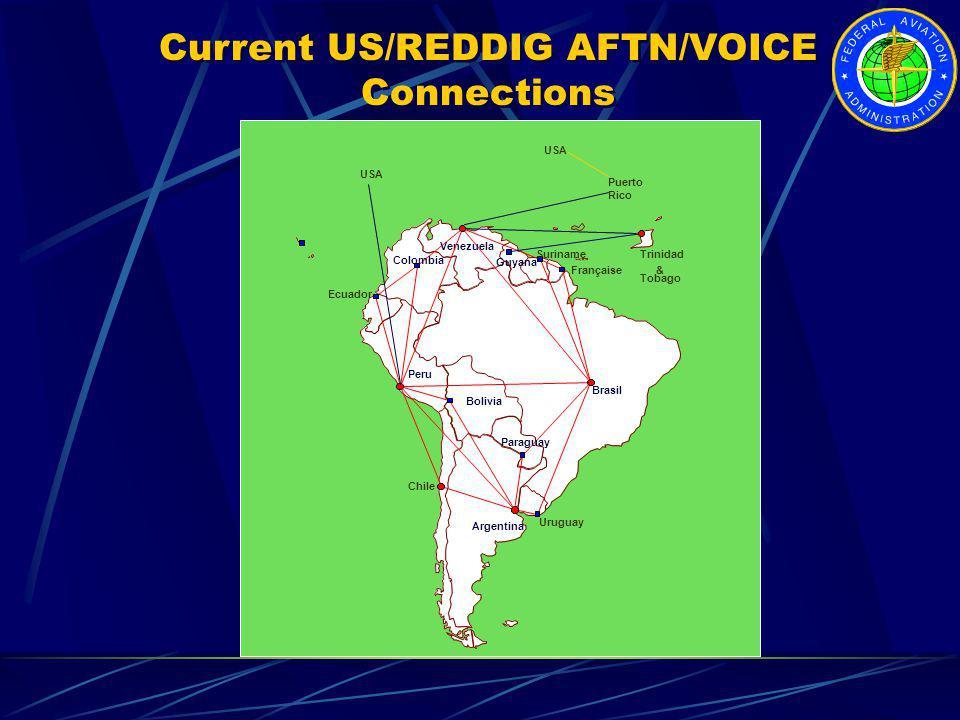 Venezuela Colombia Ecuador Peru Bolivia Chile Paraguay Uruguay Argentina Brasil Guyane Française Suriname Guyana Trinidad & Tobago USA Puerto Rico USA
