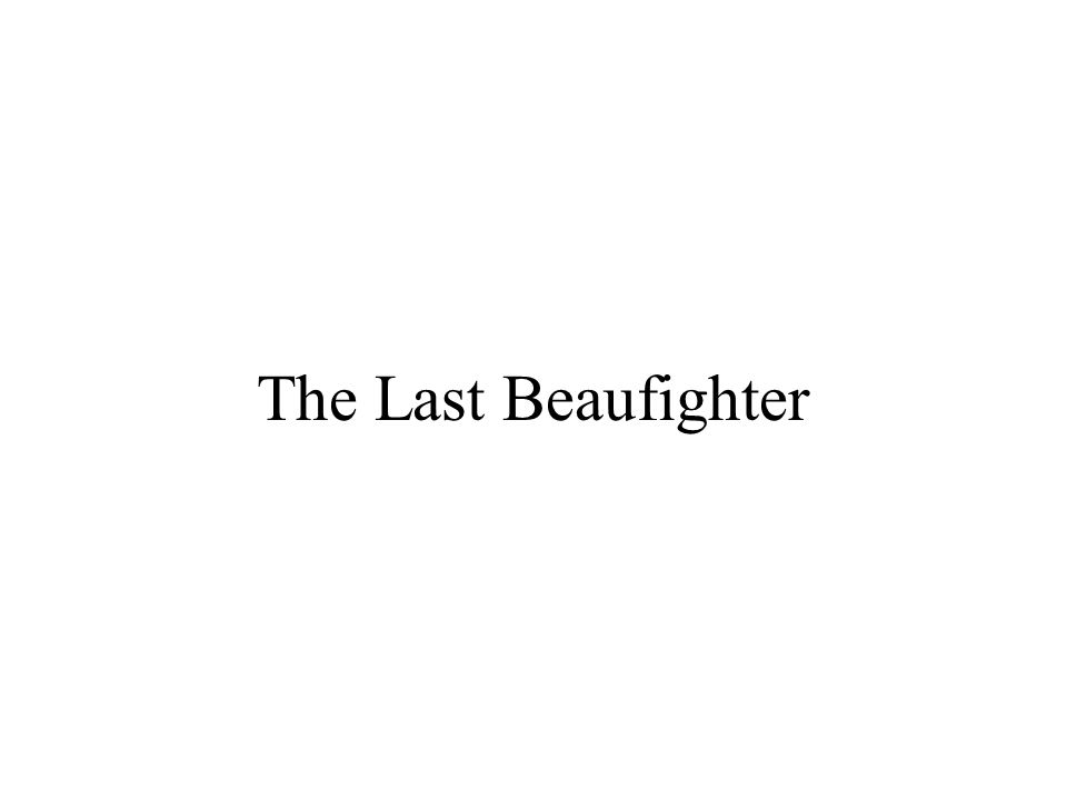 The Last Beaufighter