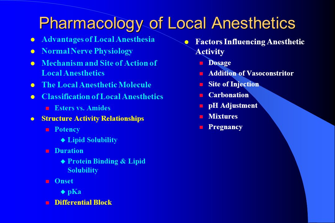 Pop-quiz on pharmacology LA In normal tissue, which property of drugs has the greatest effect on the speed of onset of a local anesthetic.