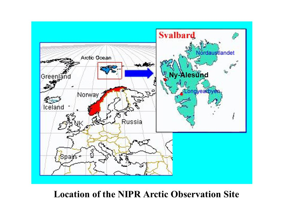 Ny-Alesund Location of the NIPR Arctic Observation Site